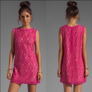 Joie isette pink lace dress